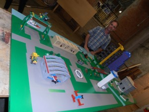 David Hawkins Installs Lego City Interactive Model