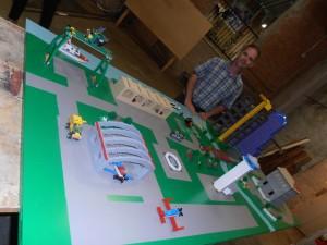 David Hawkins Installs Lego City Interactive Model